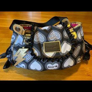 Betseyville Betsey Johnson black and white bag